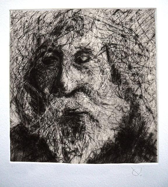 Yves Coladon artiste peintre et graveur. Gravure. Portrait de J.P. Boutique en ligne !