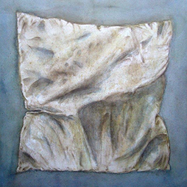 Yves Coladon artiste peintre et graveur. Oreiller. Aquarelle.