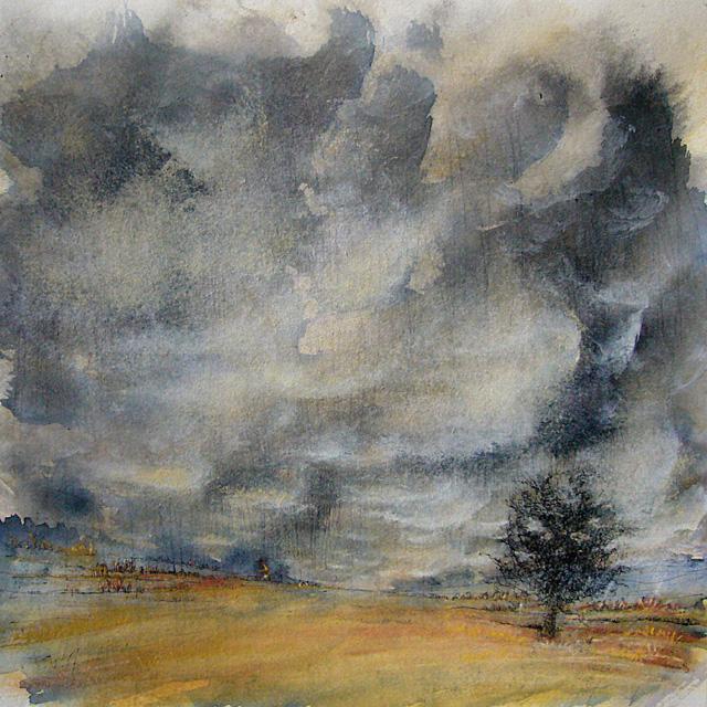 Yves Coladon artiste peintre et graveur. Paysage. Aquarelle.