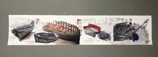 Yves Coladon artiste peintre et graveur. Coques de bois, Côtes d'Armor…