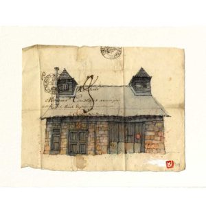 Carte postale. Maison N°5, Yves Coladon artiste peintre graveur