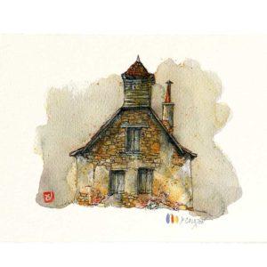 Carte postale. Maison N°7, Yves Coladon artiste peintre graveur