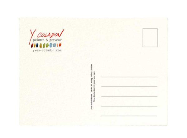 Carte postale. Yves Coladon artiste peintre graveur