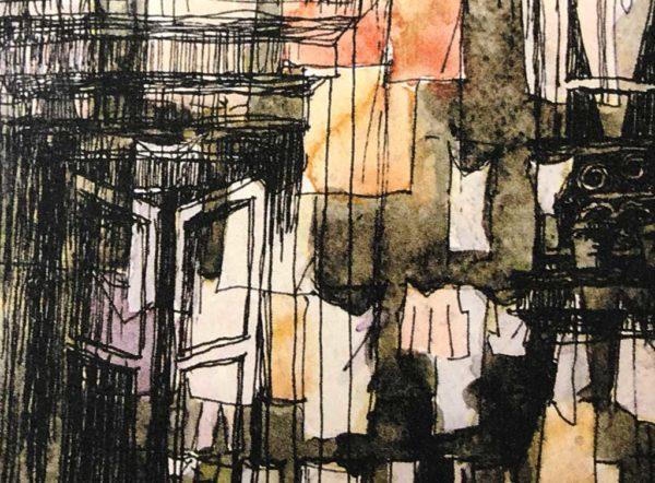 Yves Coladon artiste peintre graveur, Leporello fenêtres sur cour