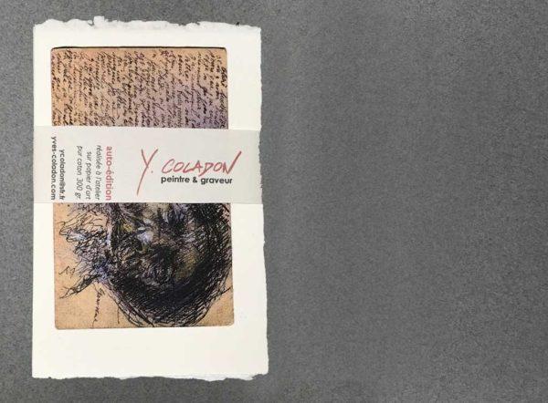 Yves Coladon artiste peintre et graveur. Tronches de vie, rencontres de voyages…. Encre et aquarelle.