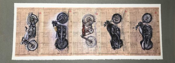 Yves Coladon artiste peintre graveur, Harley Davidson