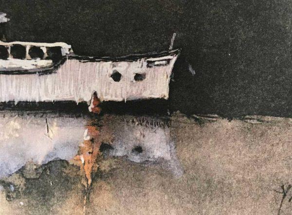Yves Coladon artiste peintre graveur, les péniches