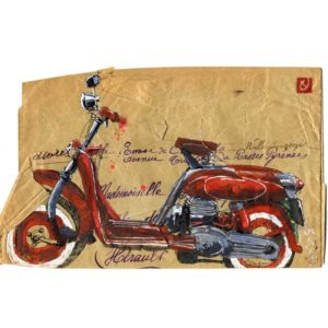 Moto, Yves Coladon artiste peintre graveur