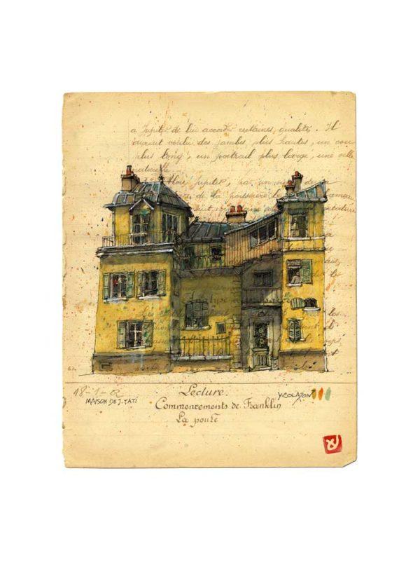 Maison de Monsieur Hulot, Jacques Tati, Yves Coladon artiste peintre graveur