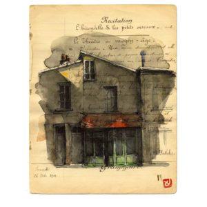 Maison N°2, Yves Coladon artiste peintre graveur