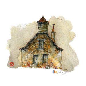 Maison N°7, Yves Coladon artiste peintre graveur