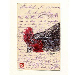 Yves-Coladon-Carte-Postale-Poule1