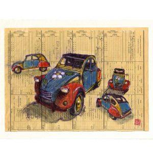 Carte postale. Deuch, aquarelle, Yves Coladon artiste peintre graveur