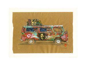 Yves-Coladon-Carte-Postale-Combi-hippie