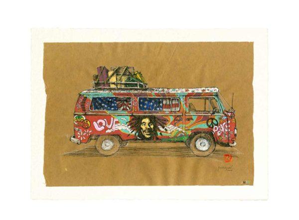 Yves-Coladon-Artiste-Dieulefit-Carte-Postale-Combi-hippie