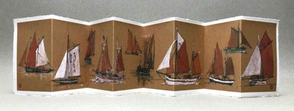 Yves Coladon artiste peintre et graveur. Vieux gréements, encre et aquarelle.