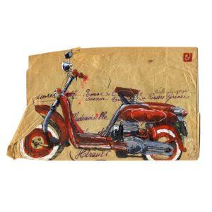 Moto-Rouge-Yves-Coladon-Artiste-Dieulefit-Drome